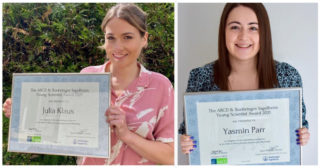Julia Klaus and Yasmin Parr win the 2021 Young Scientist Award